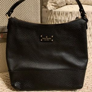 Authentic Kate Spade Black Leather Hobo Bag